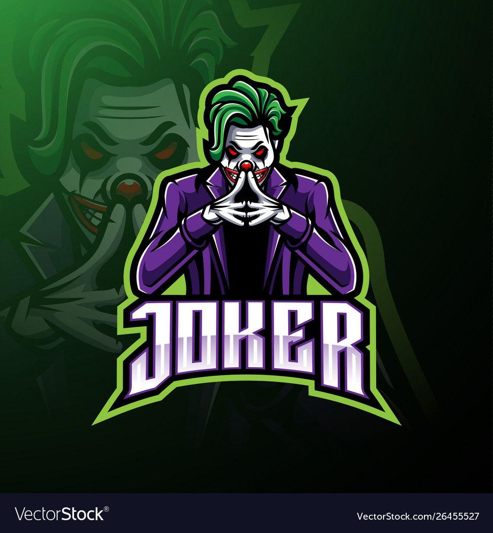 Joker esport mascot logo design vector image on