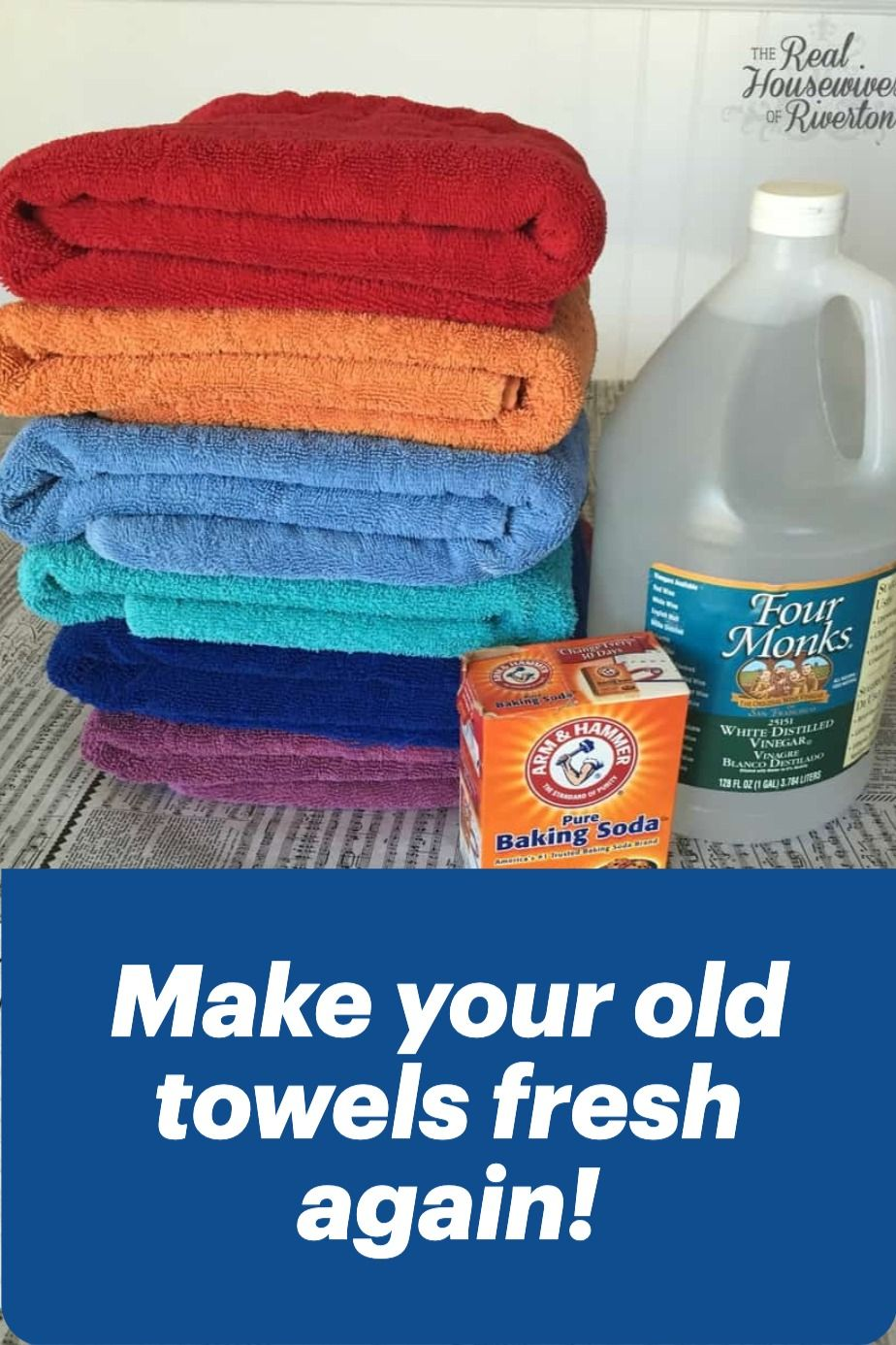 How to clean towels and get them really clean with baking