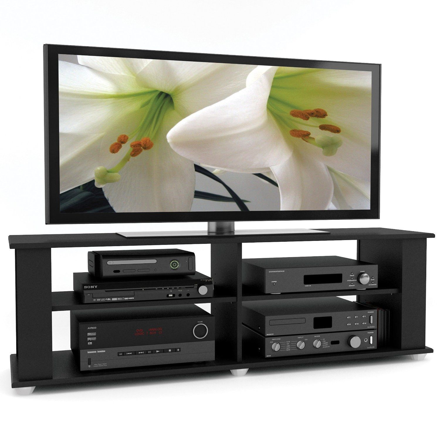Tv Stand Black Modern Black Tv Stand Fits Up To 68 Inch Tv Black Tv Stand