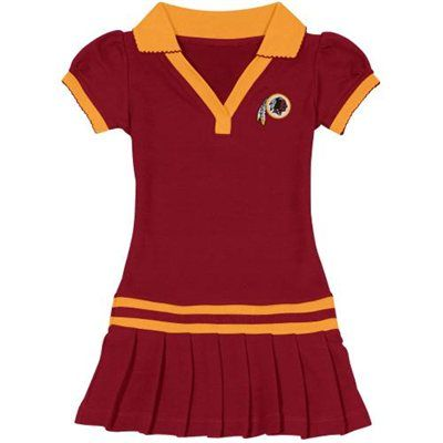 bdf71e36 Washington Redskins Preschool Girls Pleated Polo Dress - Burgundy ...