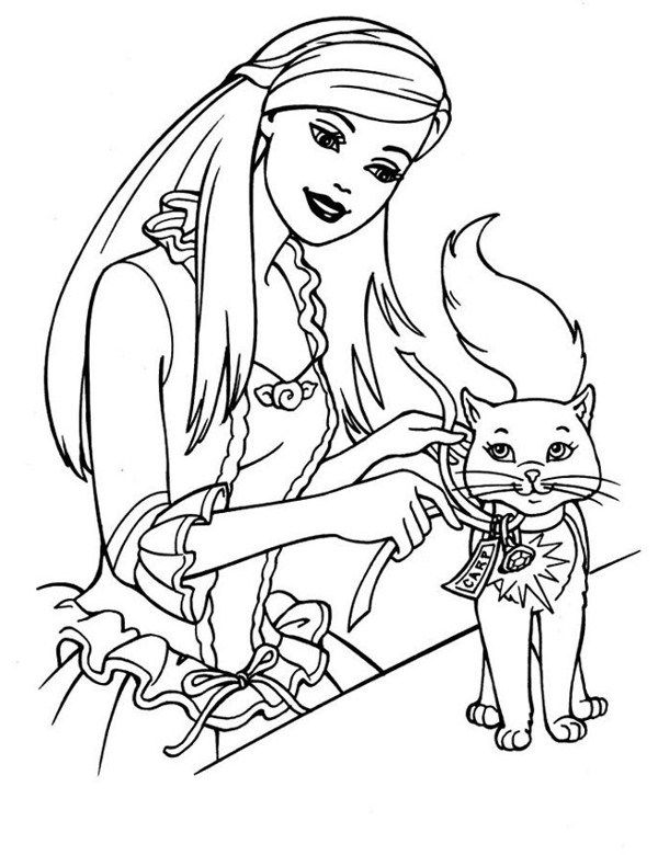 Beautiful Barbie Free Printable Coloring Pages Gallery
