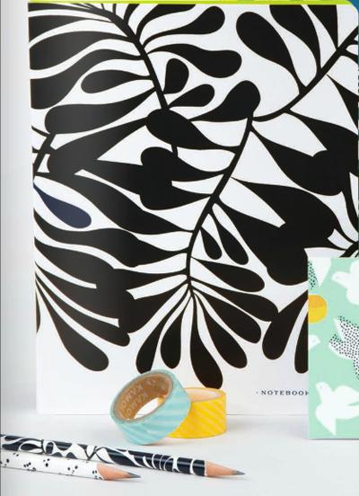 Designer Joy Laforme Spiral Notebook Print Patterns Surface