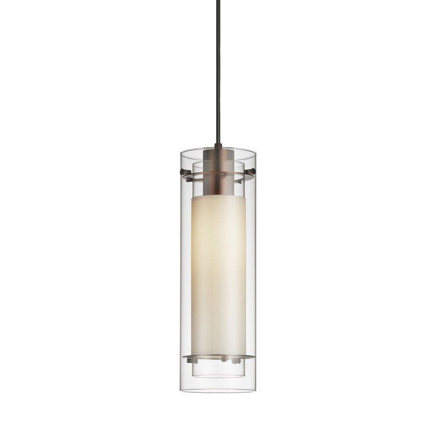 Dainolite Lighting 5-in Oil-Rubbed Bronze Mini Clear Glass Cylinder Pendant