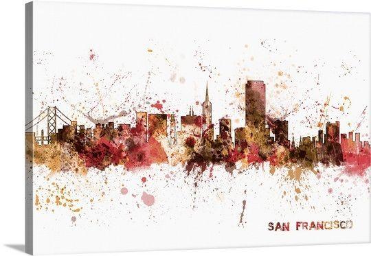San Francisco California City Skyline