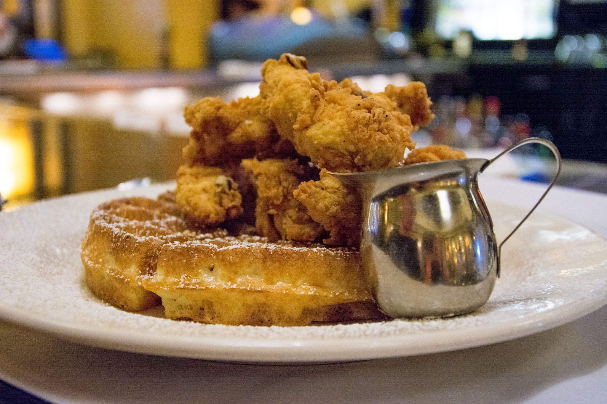 New York-style chicken and waffles