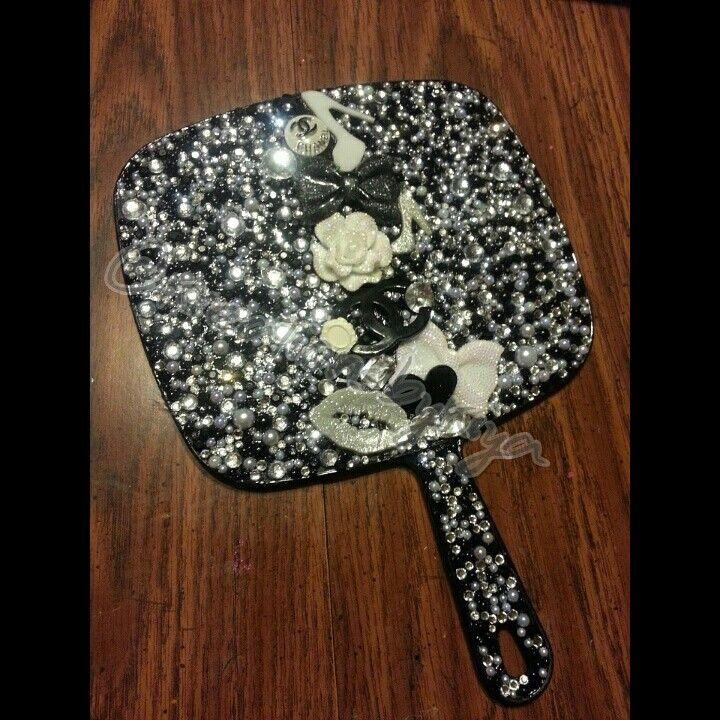 Chanel Theme Hand Held Mirror Mirror Crafts Diy Mirror Hand Mirror
