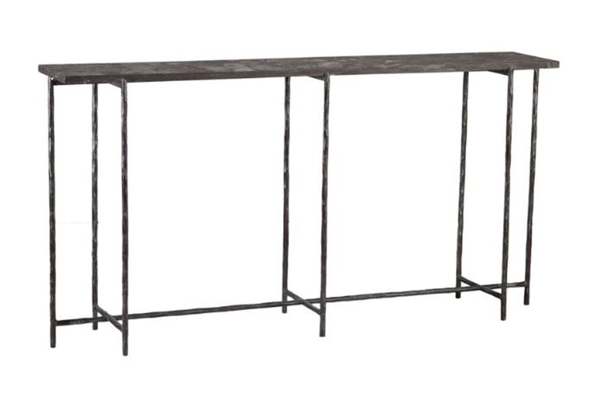 Cast Iron 60 Inch Console Table W Stone Iron Console Table