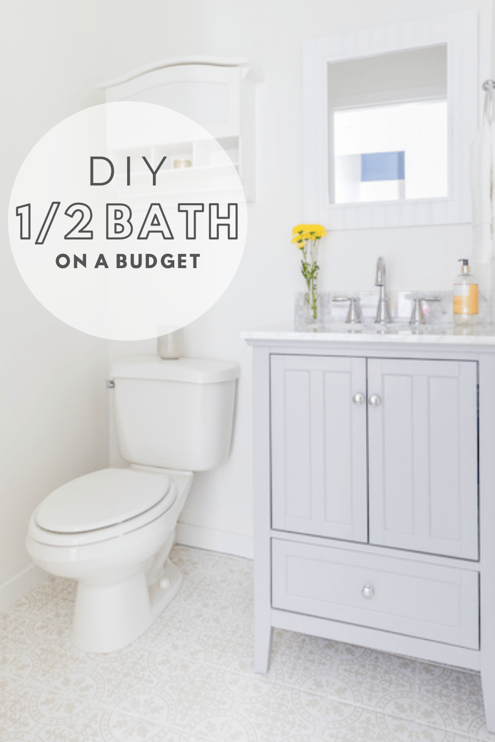 Diy Budget Half Bath Transformation In 2020 Diy On A Budget Diy Bathroom Diy Renovation