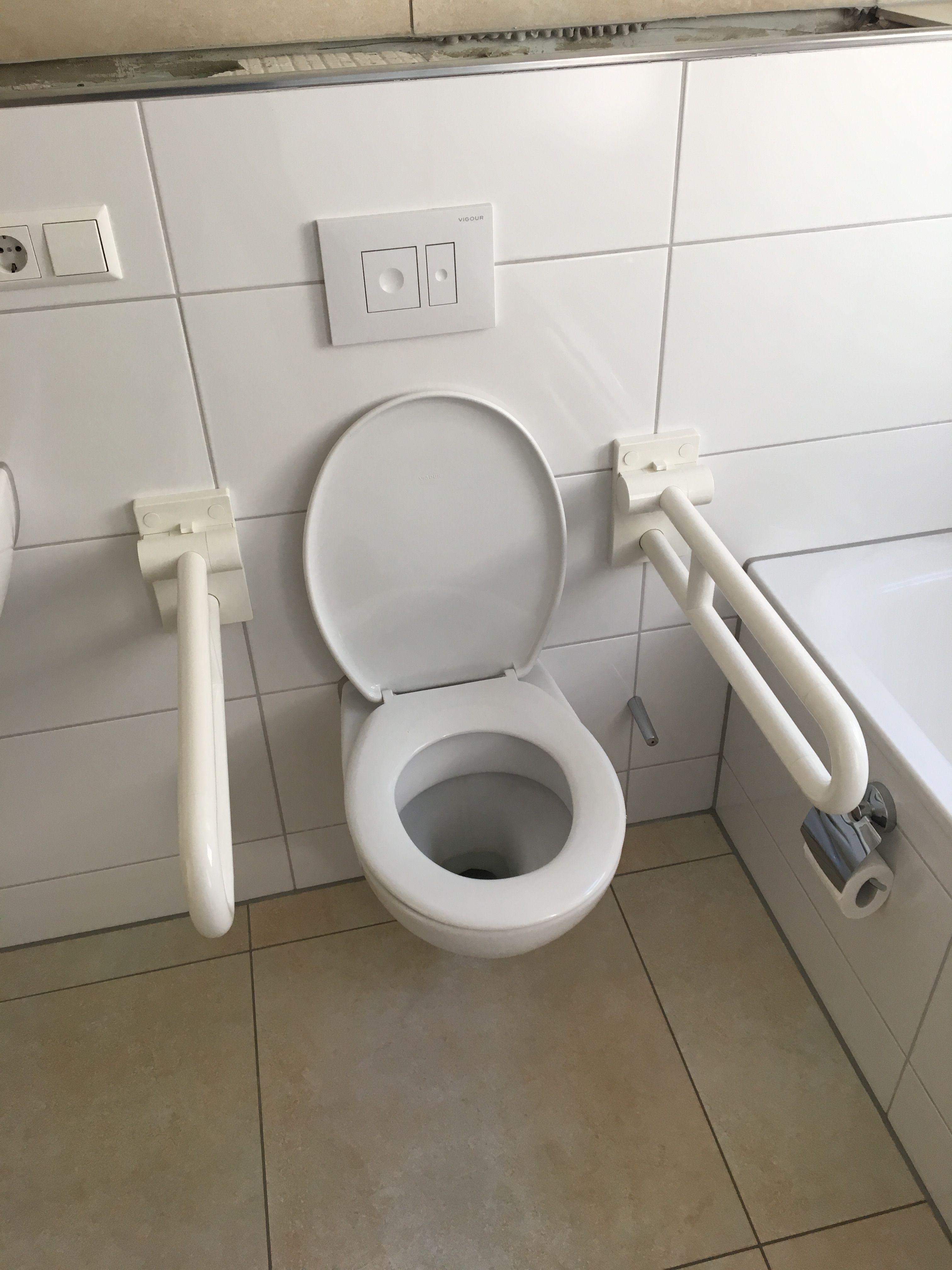 Haltegriffe Montiert Griffe Toiletten Aufstehen