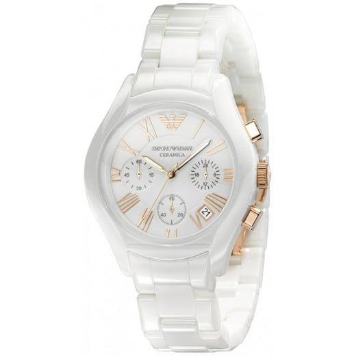 f25b91273e5 Emporio Armani Ladies Ceramic Chronograph Watch AR1417