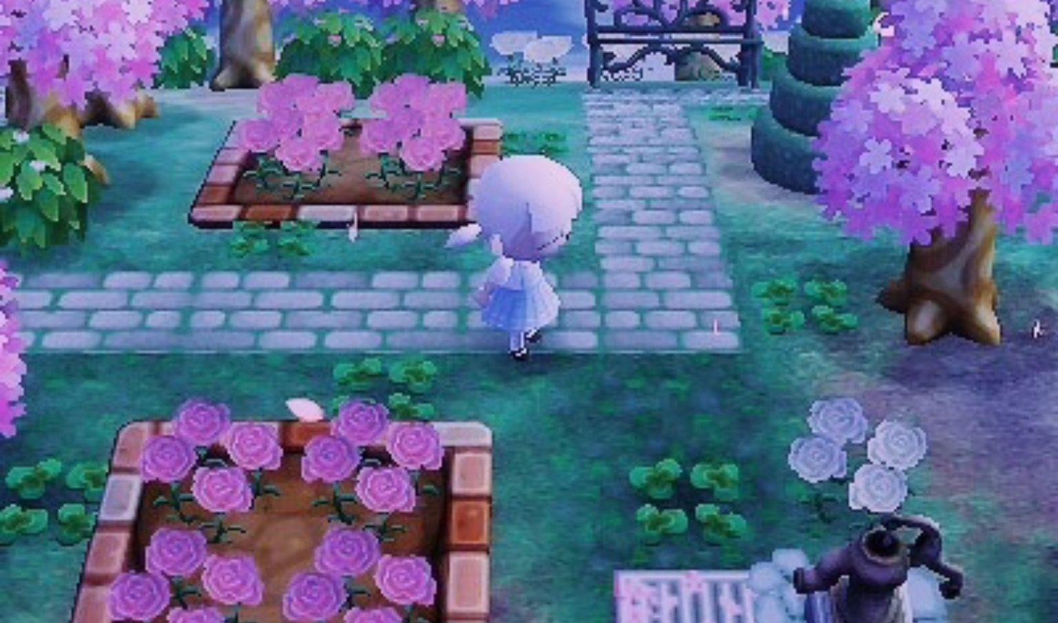 Path Flowers Cute Park Animal Crossing Hhd