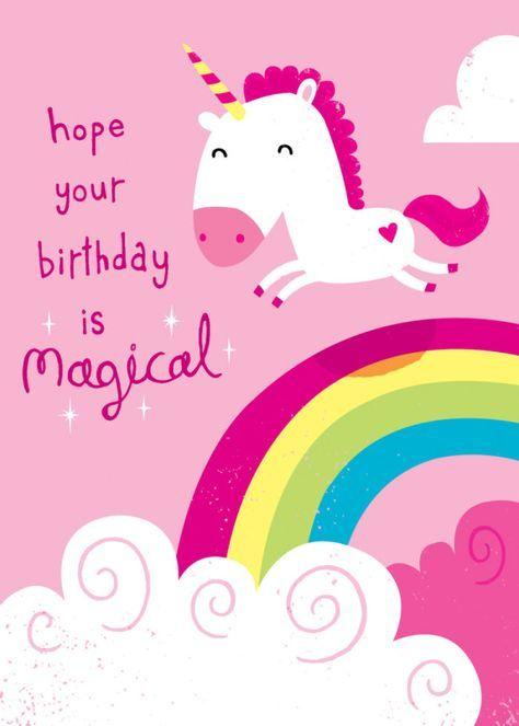 Michael Buxton Unicorn 2 Happy Birthday Greetings Happy Birthday Cards Unicorn Birthday Cards