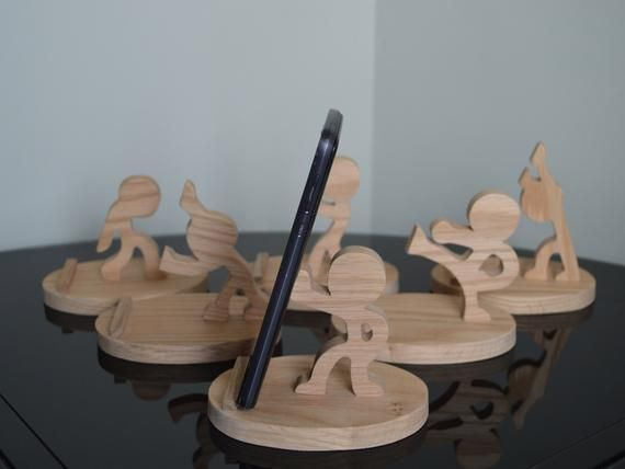 Solid Oak Cell Phone Holder, Cell phone stand, people cell p…