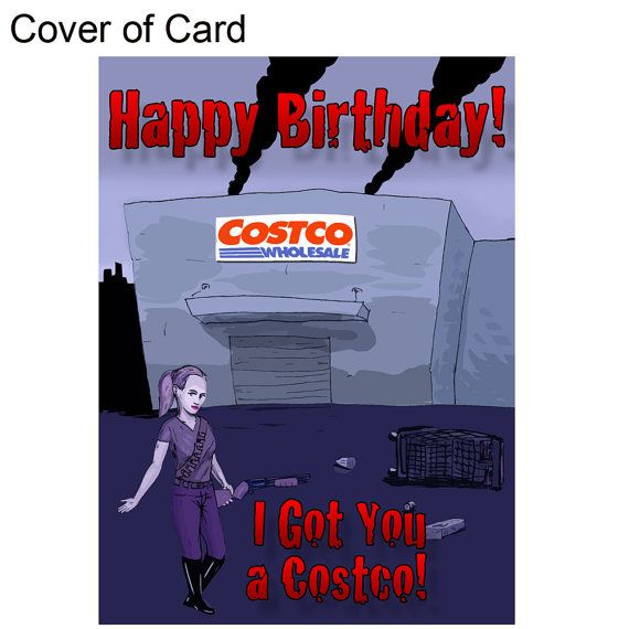 Zombie Birthday Card Costco Gift By Zombiesurvivorz On Etsy Zombie