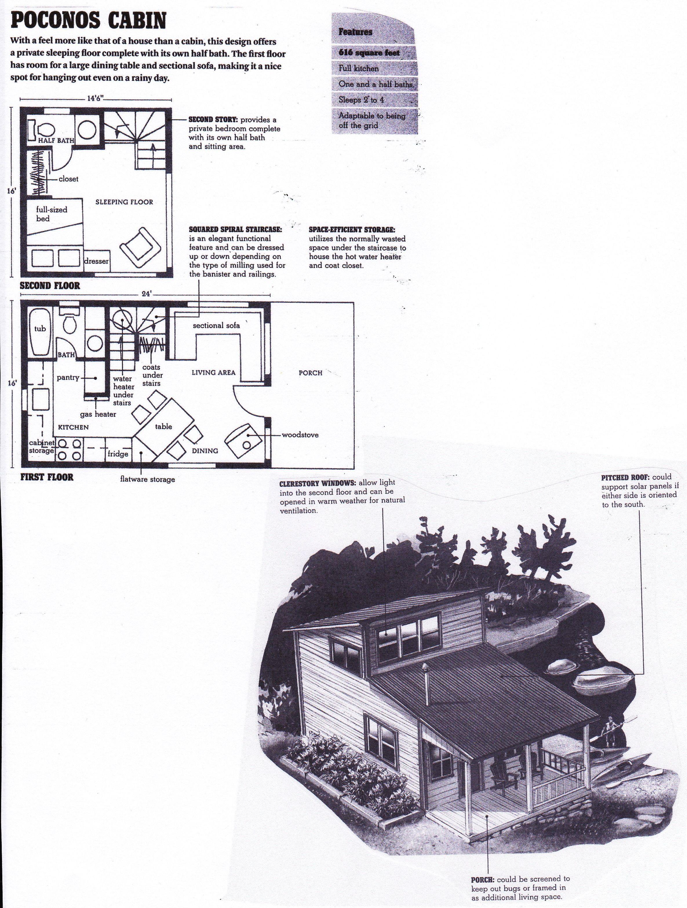 poconos cabin floorplan from u0027compact cabins simple living in