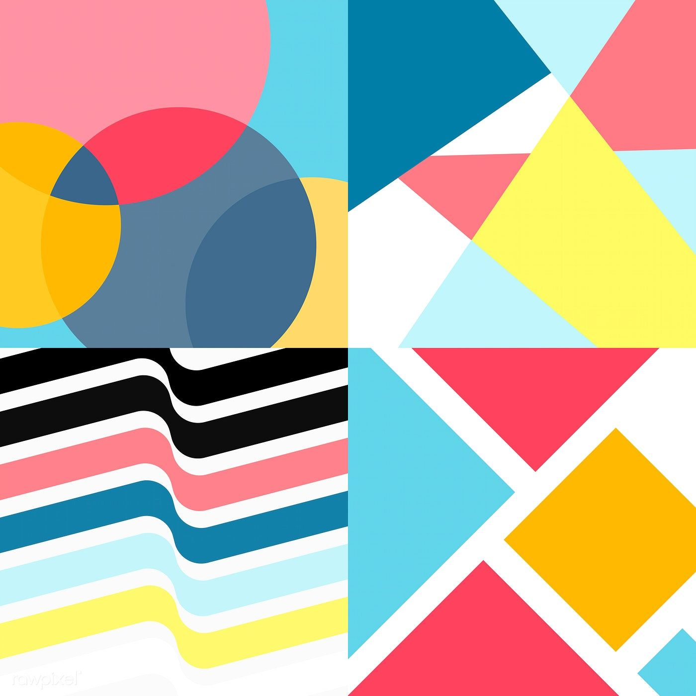 Colorful Swiss Graphic Design Patterns Collection Free Image By