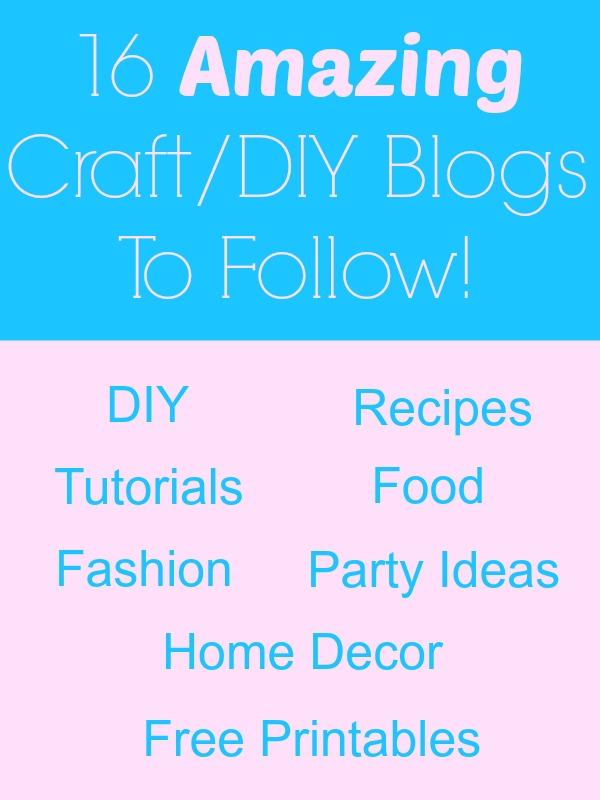 16 amazing craft and DIY blogs to follow! | Diy craft ...
