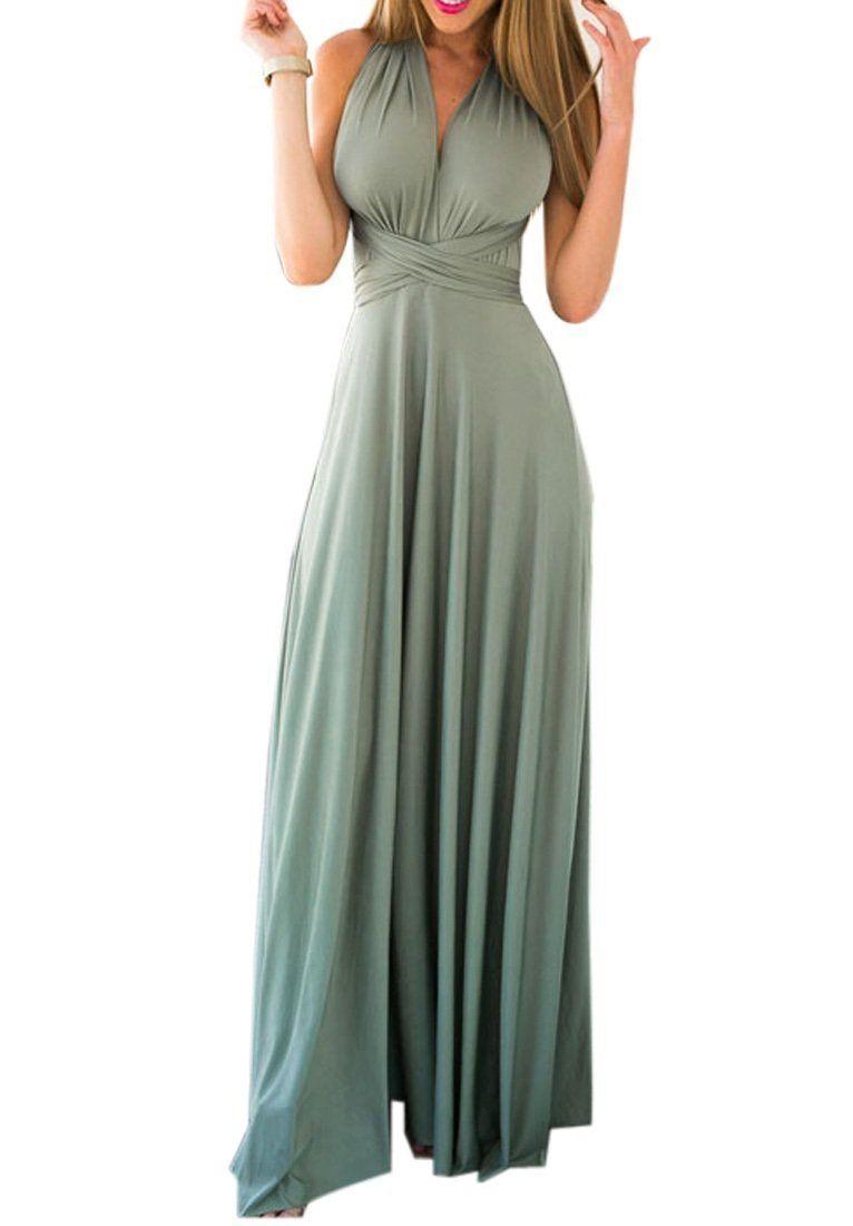 3952f622847 Amazon.com  Preferhouse Womens Multiuse Dress Long Wide Strap Unlined Party  Wear  Clothing