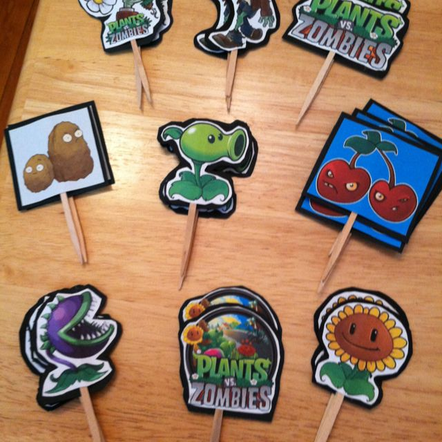 Plants vs Zombies toppers Instead of using on cupcakes can use on