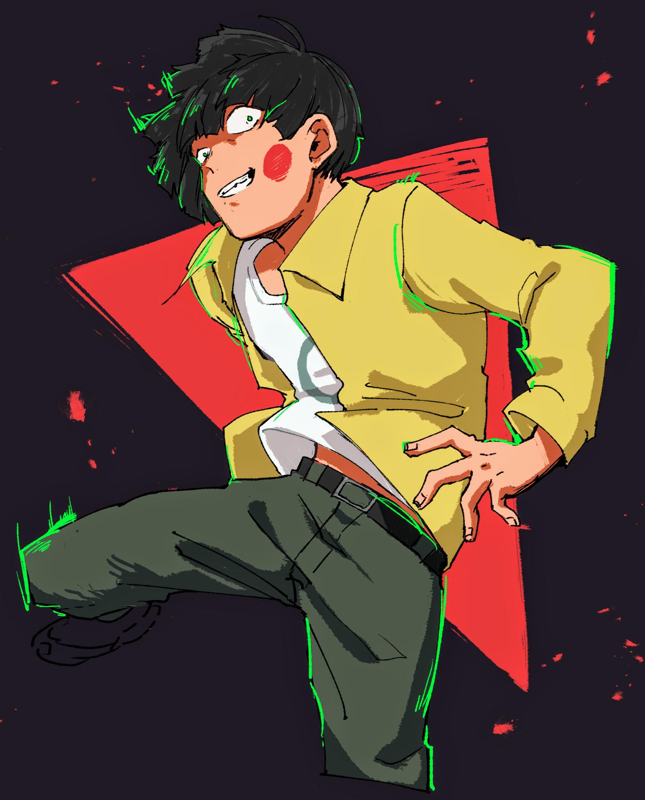 Dimple╳Mob Psycho 100 Art Fanart Anime Manga Animeboy