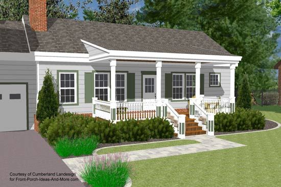 Porch Roof Designs Front Porch Designs Flat Roof Porch Front Porch Design Porch Roof Design Ranch House Designs