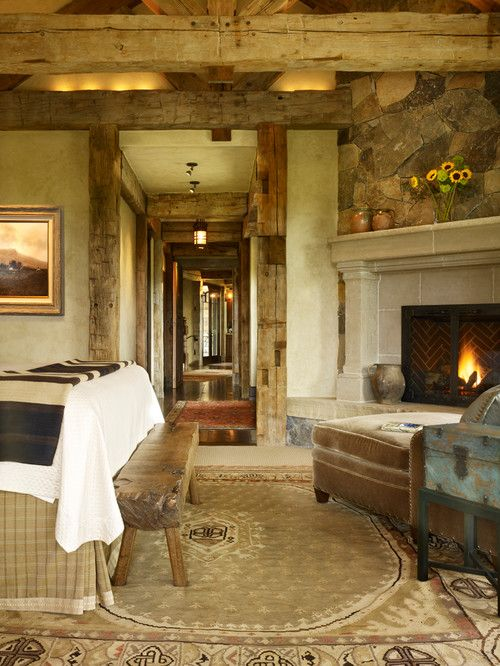 Mountain living in Colorado ... the texture and neutral palate are fabulous!