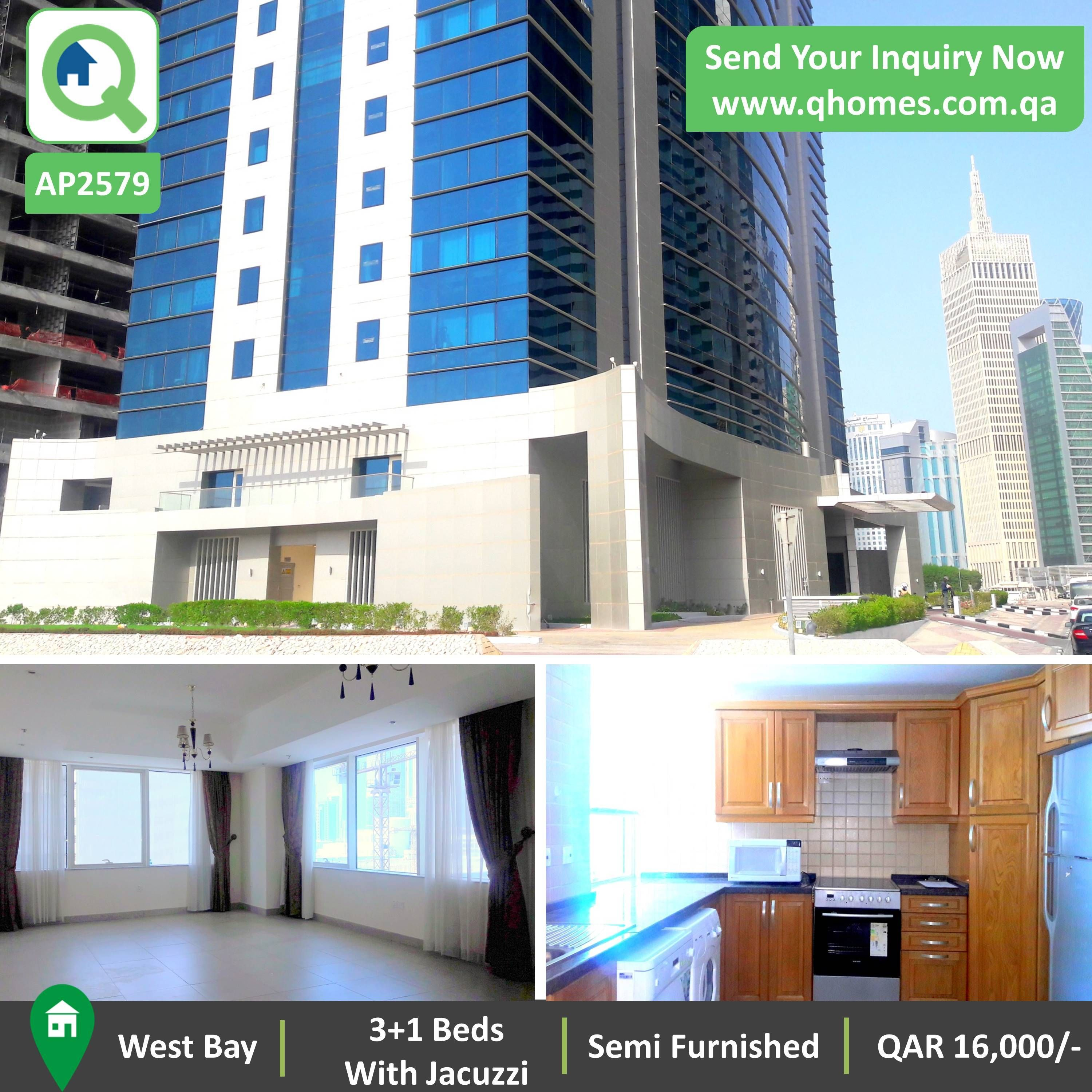 Apartment for Rent in Qatar: Luxurious Semi Furnished 3+1 ...