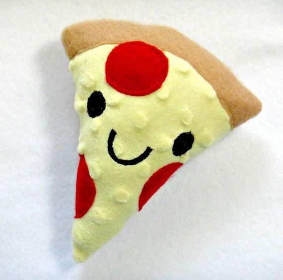 Happy Plush Pizza Kawaii Ith In The Hoop Stuffed Toy