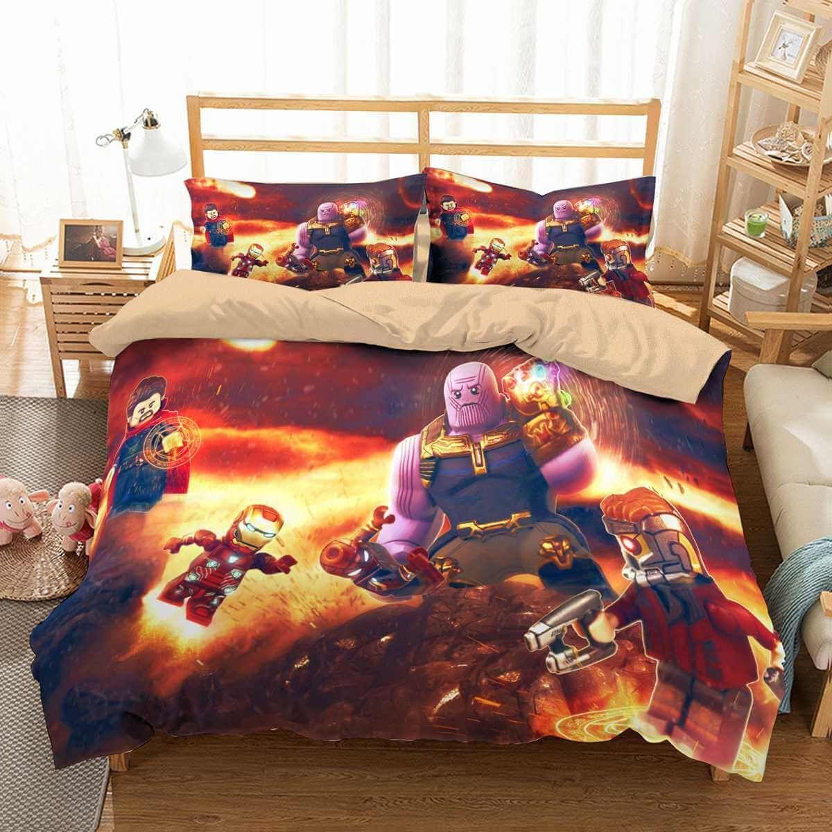 3d Customize Avengers Infinity War Lego Bedding Set Duvet Cover Set Bedroom Set Bedlinen Duvet Cover Sets Bedroom Set Bedroom Sets