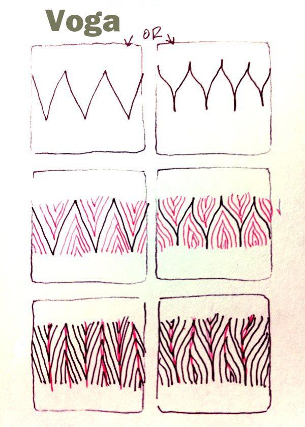 Voga  Tangle Pattern by Carol Ohl, CZT / Open Seed Arts  | Zentangle