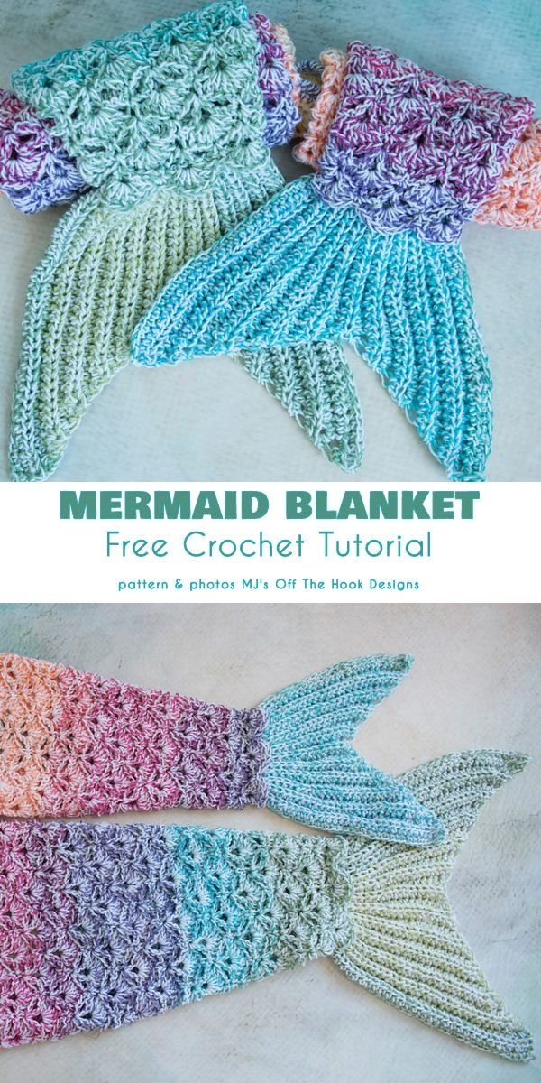 Photo of Mermaid Tail Blanket Free Crochet Patterns