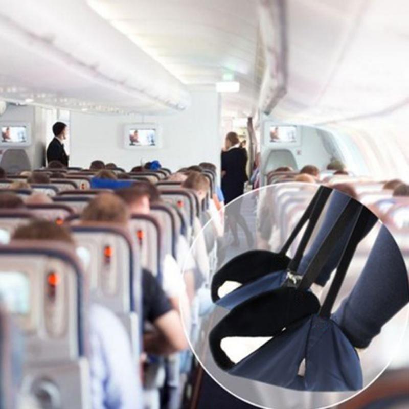 Flight Portable Foot Rest Travel Airplane Hammock Carry On Memory Foam Non Slip