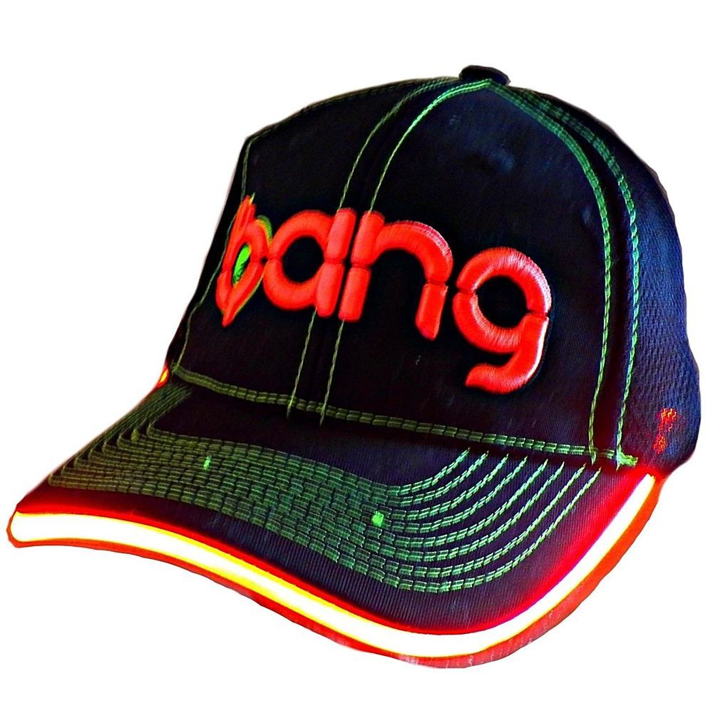 d4c00e39f75 bang Energy Drink LED Florescent Light Up Rave Lit Snapback Baseball Hat Cap   VPXSportsBANG
