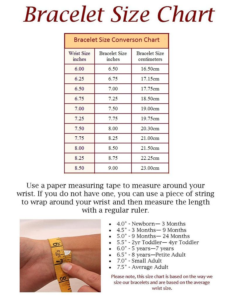 b42539fdc472 Please reference below for charts that can be useful when placing an order.  Birthstone Color Chart Bracelet and Necklace Sizes