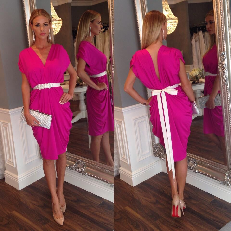 vestidos de coctel color fucsia - Buscar con Google | dress ...