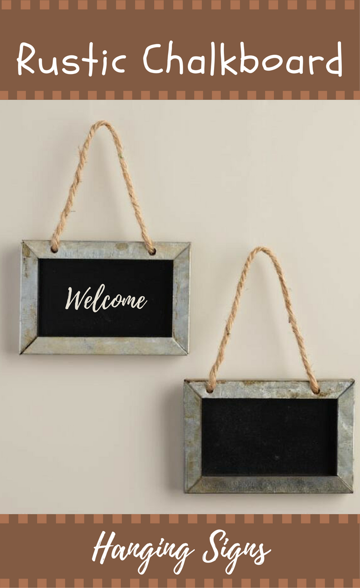 Rustic Decor Rope Chalkboard Wall and Door Hanging Signs #Affiliate