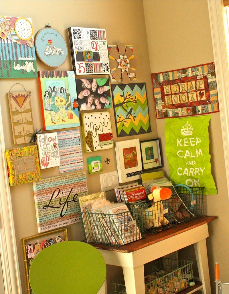 fun collage wall from @Kelly Lautenbach | Organized stuff. Pretty ...