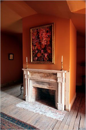 Fireplace In The Attic Of Louisiana Plantation Home Hunt Slonem Houses Tuscan