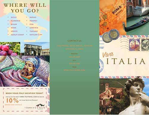 Italy Folded Travel Brochure GOOD STUFF Pinterest Travel