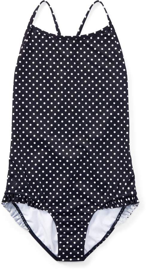 78a87f21198b4 Ralph Lauren Polka-Dot One-Piece Swimsuit   Products   Polka dot one ...