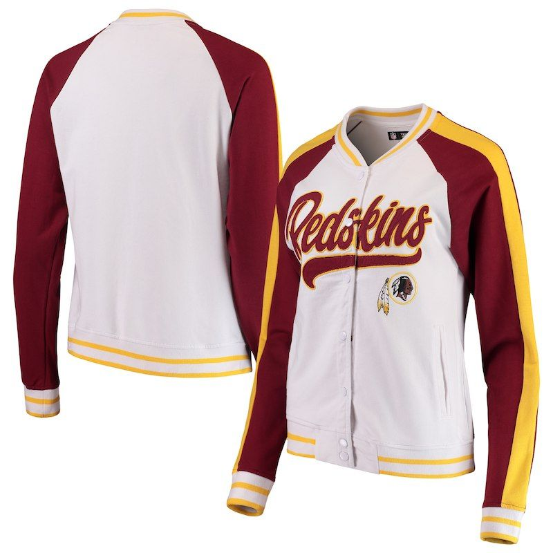 buy popular fe601 6a234 Washington Redskins New Era Women's Varsity Full Snap Jacket ...