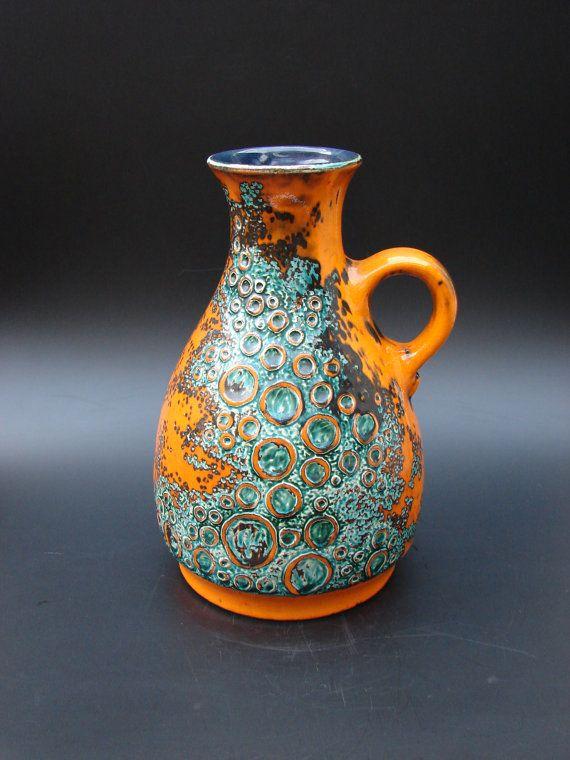 Rare seventies Jasba vase vintage German ceramics
