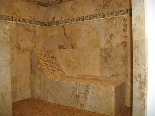 Master Bathroom Shower Walk In Benches Tile