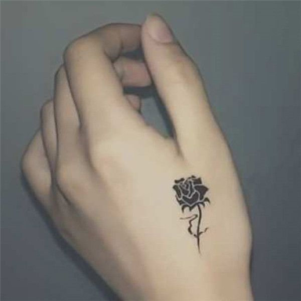 Simple Rose Tattoo Pattern Tattoo Tattoos For Women Hand Tattoos
