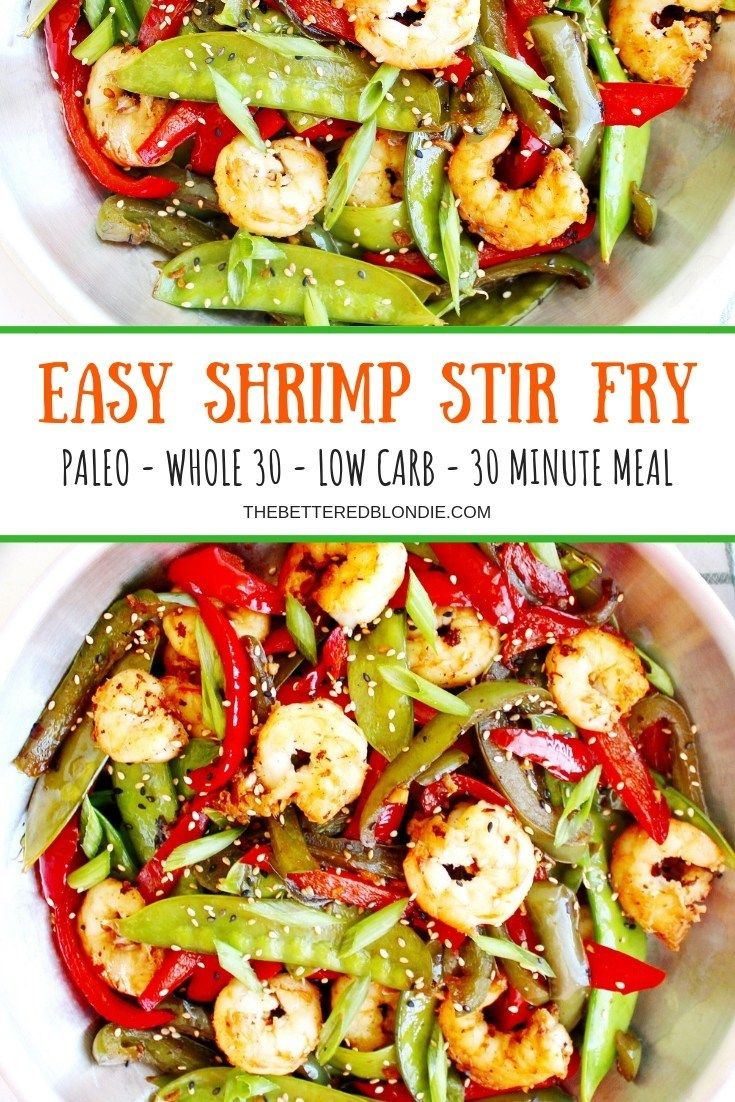 Easy Shrimp Stir-Fry - Paleo, Whole 30, Low Carb -