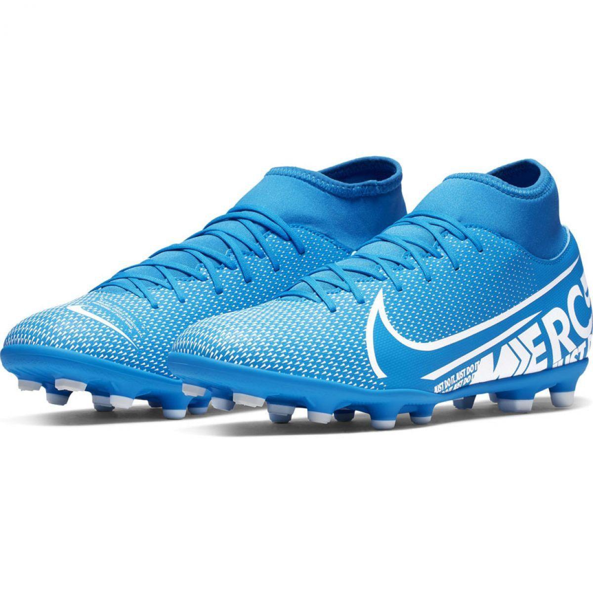 Buty Pilkarskie Nike Mercurial Superfly 7 Club Fg Mg M At7949 414 Niebieski Niebieskie Nike Buty I Buty Nike