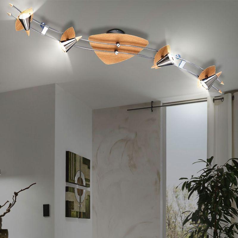 Exceptional Details Zu Decken Leuchte Kegel Strahler Beleuchtung Holz Buche Silber 4 Er  Spot Lampe IP20