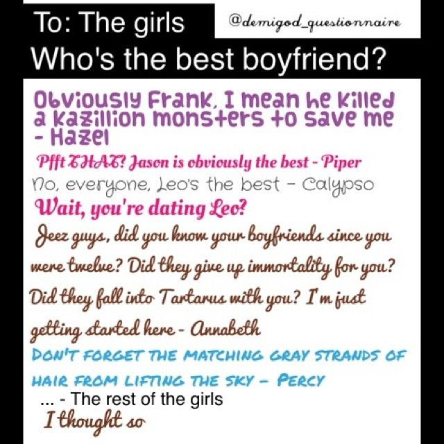 Percy Jackson: Best Boyfriend Award! OMG I love this so much! Words cannot describe how much I love this!