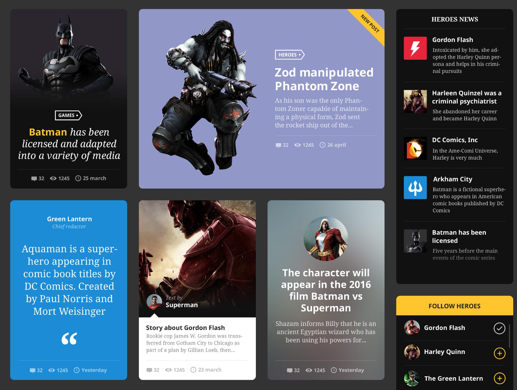 Hero Free UI Kit | Freebies | Free web design, Ui kit