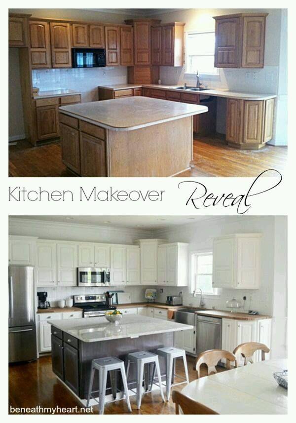 Ideas Para Renovar Nuestro Hogar Antes Y Despues Kitchen Makeover Kitchen Diy Makeover Home Remodeling